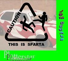 Caution this is Esparta hater Pegatina Sticker Race Raser Fun JDM OEM Dub like