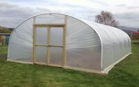 18ft Wide Polytunnel Greenhouse, Commercial Poly Tunnel from Premier Polytunnels