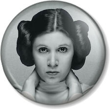 "Princess Leia 25mm 1"" Pin Button Badge Star Wars Movie Character Carrie Fisher 2"