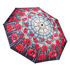 Galleria Auto Folding Umbrella - Poppies