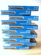 Blank Audio Recording Cassette Tapes D120 Minutes Certron ,Lot Of 10
