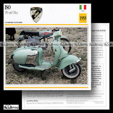 #030.06 Scooter ISO 150 DIVA 1959 Fiche Moto Motorcycle Card