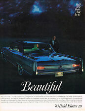 Vintage 1963 Magazine Ad Buick Electra 225 Beautiful Bold New Look for '63