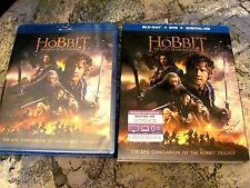 The Hobbit: The Battle of the Five Armies (Blu-ray/DVD+DC, 2015)Sleeve Fast Ship