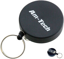 Recoil Key Ring Retractable Keyring Belt Clip Pull Nylon Retracting Extending