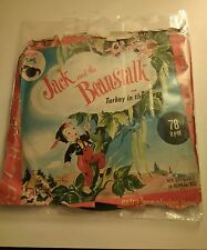 """Rare Vintage Happy Time 7"""" 78rpm Jack and the beanstalk & Turkey in the straw."""