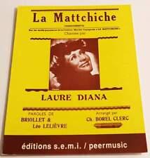 Partition vintage sheet music LAURE DANA : La Mattchiche * 30's