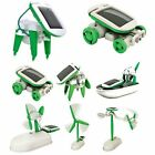 Creative DIY 6 IN 1 Educational Learning Power Solar Robot Kit Children Toys