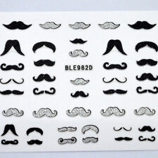 Acrylic Glitter Moustache Nail Art Stickers Decals Nail Tips Decoration Supplies