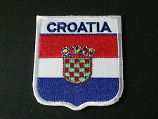 BACKPACKERS NATIONAL COUNTRY SHIELD FLAG SEW/IRON ON PATCH:- CROATIA