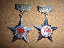 """2 VC Medals """"CHIEN SI QUYET THANG"""" Resolve-To-Win Soldier Years 1980 & 1985"""