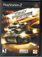 THE FAST AND THE FURIOUS ORIGINAL PS2 PLAYSTATION 2 GAME