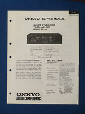 ONKYO TX-36 RECEIVER SERVICE MANUAL ORIGINAL FACTORY ISSUE GOOD CONDITION