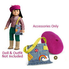 "American Girl IVY ACCESSORIES W/OUT EARRINGS for 18"" Doll Beret Coin Retired NEW"