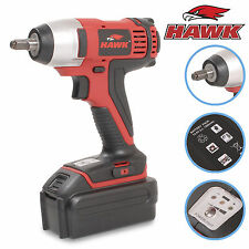 "HAWK TOOLS 14.4V 3/8 "" SQ DRIVE 106lb.ft CORDLESS IMPACT WRENCH GUN NUT RATCHET"