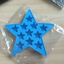 Blue Star Silicon Whiskey Ice Cube Brick Mould Tray Round Maker Mold Bar Party