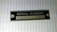SMALL SERIAL NUMBER PLATE ENGRAVING CHARGE
