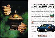 Publicité Advertising 1995 (2 pages) La Nouvelle Toyota Corolla