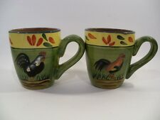 Style Eyes by Baum Bros Provence Rooster Collection Coffe Mugs - Set of 2