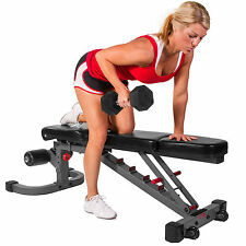XMark Adjustable FID Flat Incline Decline Weight Exercise Bench XM-7604 New