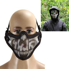Airsoft Steel Mesh Half Face Mask Tactical Protect Strike Paintball Halloween