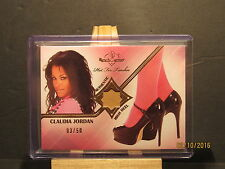 2012 Bench Warmer Hot for Teacher High Heels #15 Claudia Jordan SN 03/50