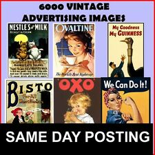 Over 6,000+ Vintage Advertising Images (Free UK Delivery) **