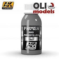 Xtreme Metal GREY PRIMER & MICROFILLER 100ml Bottle - AK Interactive 758
