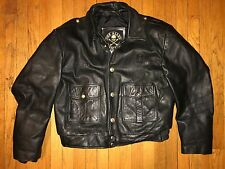 Vintage The Alley Chicago Police Leather Jacket Sz.42
