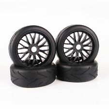 4pcs 1:8 RC Car On-Road Tires Set Tyre Wheel Rim For HPI HSP Traxxas Buggy