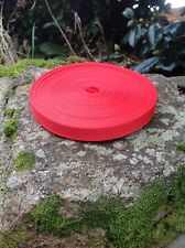 10m x 15mm Red Nylon Webbing Tape
