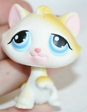 Littlest Pet Shop White & Yellow Cat Blue Eyes #52 LPS Toy