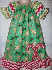 Christmas Ginger Cookies Candy  Dress  Sz 2t,3t,4t Pick your size Ready to ship