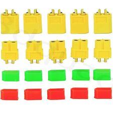 10 Stück XT60 Hochstrom Goldstecker +10x Schutzkappen für XT60 Plug Lipo Akku DE
