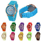 Geneva Women fashion luxury special vintage Silicone Analog Quartz Wrist Watch