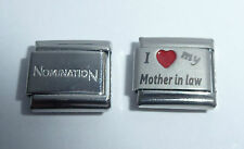 I LOVE MY MOTHER IN LAW Italian Charm + 1x Nomination Classic Link Red Heart Mum