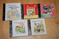 LITTLE Little GOLDEN BOOK Three Little Pigs We Help Daddy Mother Goose Rhymes +