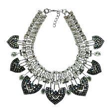 Zara Crystal Resin Fan Statement Necklace