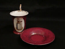 Late 19th Century Royal Vienna Dresden Chocolate Girl Portrait Cup & Saucer