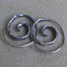 Cool Thai Karen Hilltribe Coil Earring Pure Silver 1070