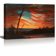 Our Banner in the Sky by Frederic Edwin Church - Canvas Wall Art- 16x24 inches