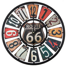 Route 66 Wooden Wall Clock -. Man Cave/Garage Decor Route 66 Collectible