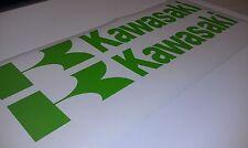 "KAWASAKI DECAL SET OF 2  LARGE 3"" X 18""  MANY COLORS & SIZES AVAILABLE AHRMA AMA"