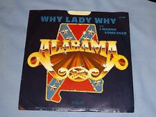 "Alabama Why Lady Why 45rpm Record & Picture Sleeve 7"" Country 1980"