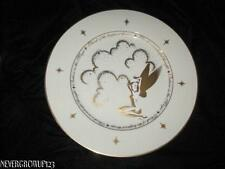 "DISNEY GALLERY COLLECTIBLE TINKERBELL 12"" SERVING PLATE~PLATTER~IVORY/GOLD~NWT"