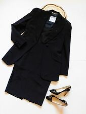 Moschino Couture Women's Embellished Black 3pc Jacket and Skirt Suit Size 10