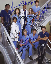 GREYS ANATOMY CAST OF 9 AUTOGRAPH SIGNED PP PHOTO POSTER