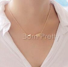 Halskette Halsschmuck Bogen Pfeil Anhänger Necklace Damen Modeschmuck