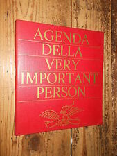 Agenda della Very Important Person 1966 Bompiani E2