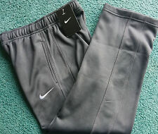 NWT Nike Boys M Dark Gray/Gray Embroidered Swoosh Therma-Fit Sweat Pants M 10-12